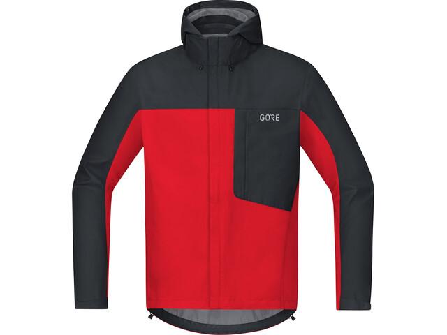 GORE WEAR C3 Gore-Tex Paclite Hooded Jacket Herren red/black